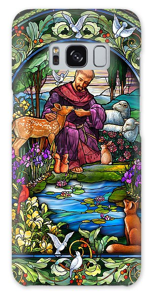 St. Francis Of Assisi Galaxy Case