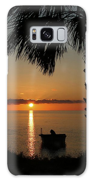 St. George Island Sunset Galaxy Case