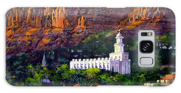 St. George Temple Red Hills Galaxy Case