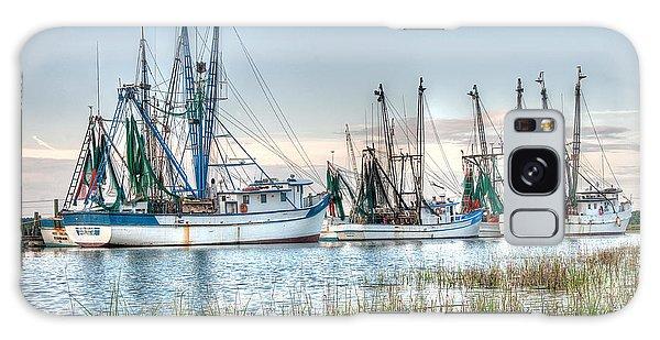 St. Helena Island Shrimp Boats Galaxy Case