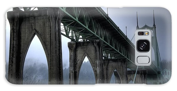 St Johns Bridge Oregon Galaxy Case by Bob Christopher