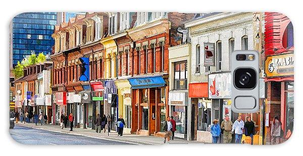 Yonge Street In Toronto Galaxy Case