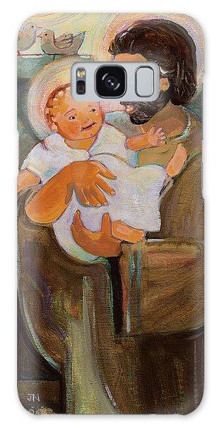 St. Joseph And Baby Jesus Galaxy Case