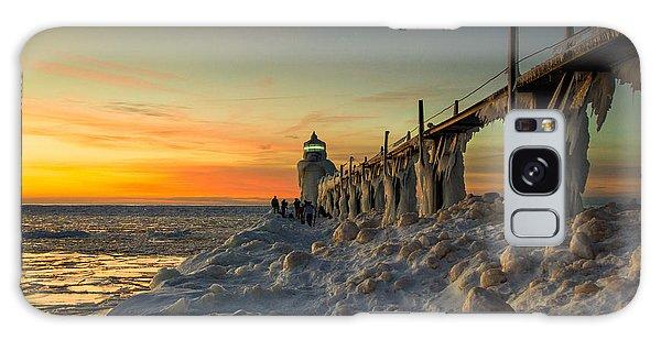 Catwalk Galaxy S8 Case - St Joseph Lighthouse At Sunset by Jackie Novak