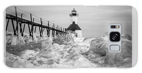 St. Joseph Lighthouse In Ice Field Galaxy Case