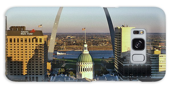 St Louis Mo Galaxy Case - St. Louis Arch With Old Courthouse by Panoramic Images