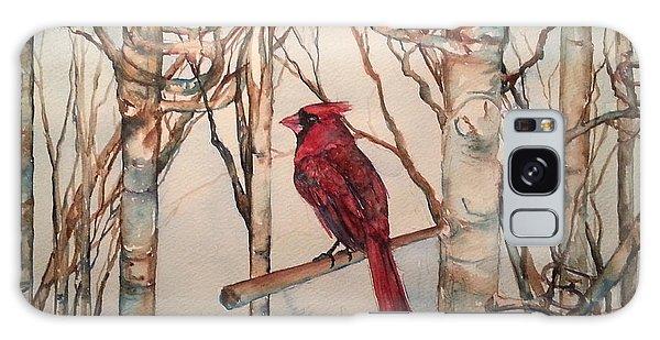 St Louis Cardinal Redbird Galaxy Case by Christy  Freeman