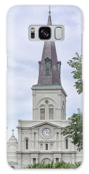 St. Louis Cathedral Through Trees Galaxy Case