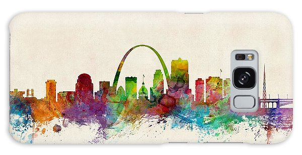 Poster Galaxy Case - St Louis Missouri Skyline by Michael Tompsett