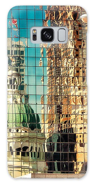 St Louis Mo Galaxy Case - St. Louis Old Courthouse Reflected by Jon Woodhams