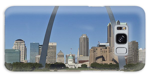 St Louis Skyline Galaxy Case by Garry McMichael