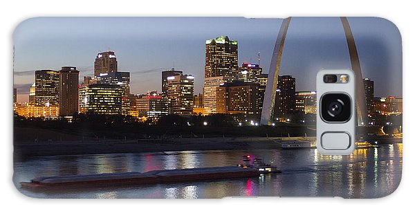St Louis Skyline With Barges Galaxy Case
