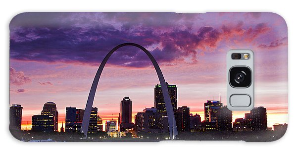 St Louis Sunset Galaxy Case