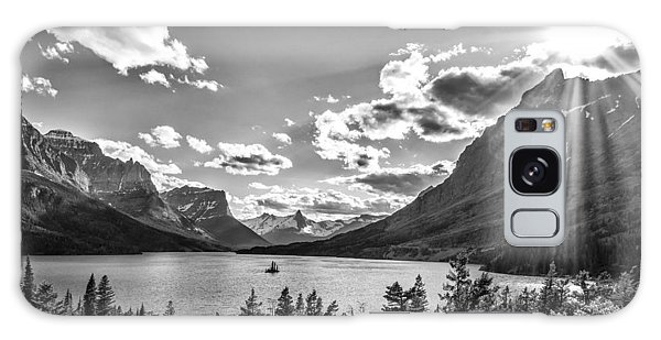 St. Mary Lake Bw Galaxy Case by Aaron Aldrich