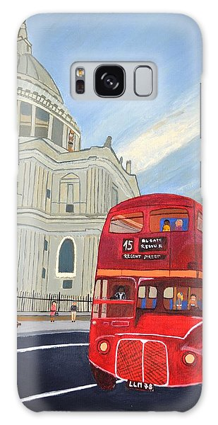 St. Paul Cathedral And London Bus Galaxy Case by Magdalena Frohnsdorff