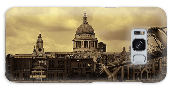 St Paul's Cathedral And Millennium Bridge London Galaxy Case by Nicky Jameson