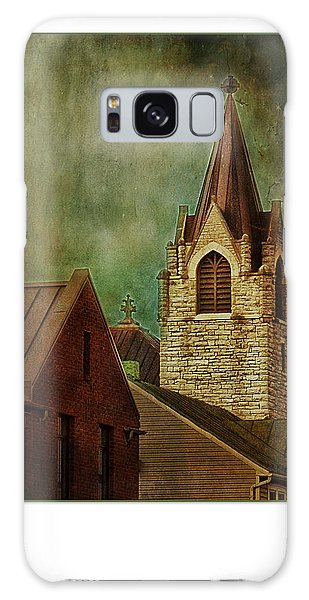 St Peter's By Night Greeting Card Galaxy Case