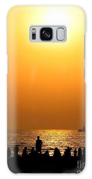 St. Petersburg Sunset Galaxy Case by Peggy Hughes