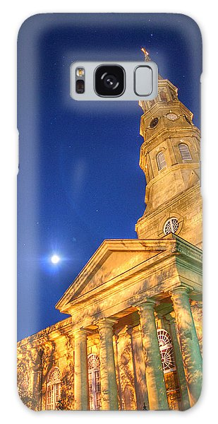 St. Phillip's At Night With Moon And Stars Galaxy Case