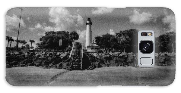 St Simmon's Lighthouse 2 Galaxy Case by J Riley Johnson