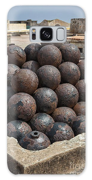 Stack Of Cannon Balls At Castillo San Felipe Del Morro Galaxy Case