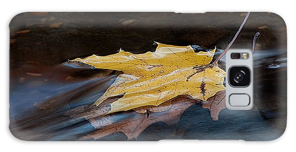 Stacked Autumn Leaves On Water Galaxy Case