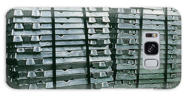 Recycle Galaxy Case - Stacks Of Ingots Of Recycled Aluminium by Adam Hart-davis/science Photo Library