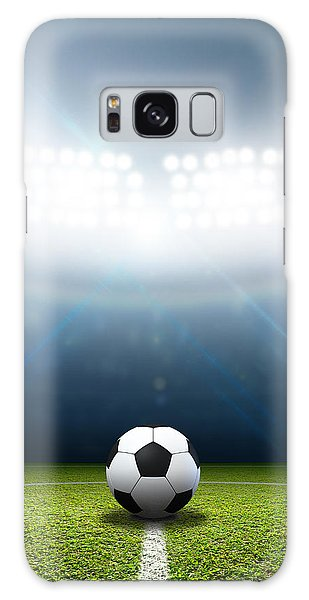 White Galaxy Case - Stadium And Soccer Ball by Allan Swart