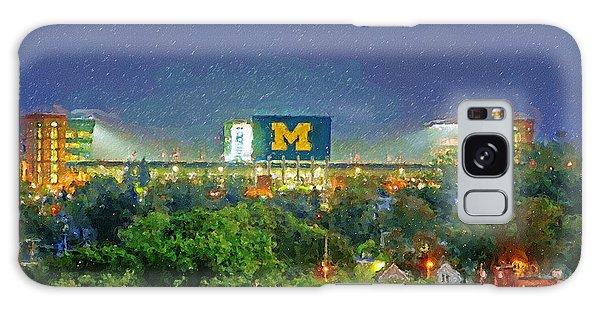 University Of Michigan Galaxy S8 Case - Stadium At Night by John Farr