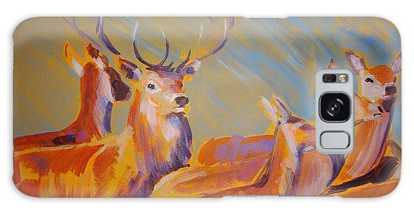 Stag And Deer Painting Galaxy Case