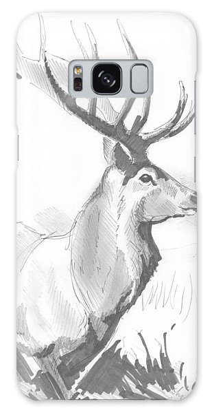 Stag Drawing Galaxy Case
