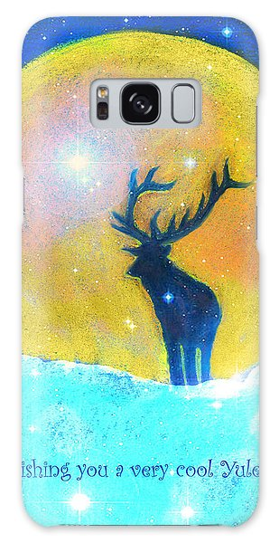 Stag Of Winter Galaxy Case by Diana Haronis