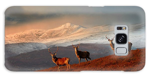 Stags At Strathglass Galaxy Case