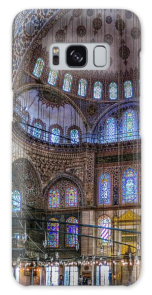 Stained Glass And Dome Of The Sultanahmet Mosque Galaxy Case