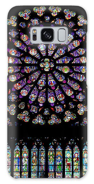 Stained Glass At Notre Dame Galaxy Case
