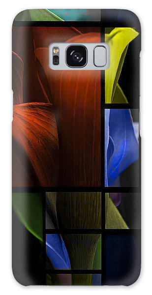 Stained Glass Calla Lily Galaxy Case