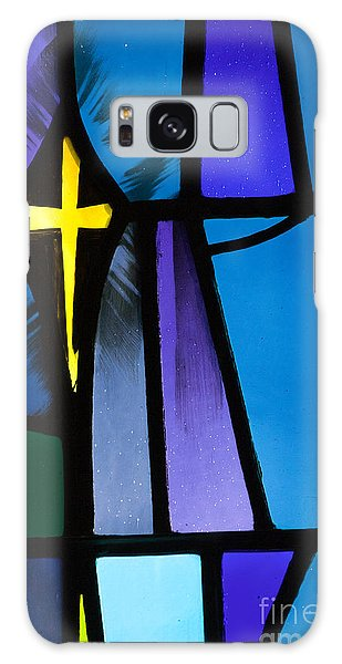 Stained Glass Cross Galaxy Case