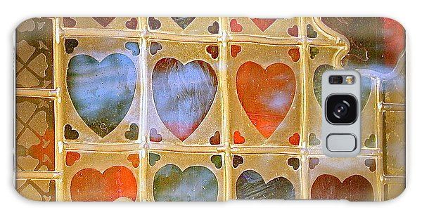 Stained Glass Hands And Hearts Galaxy Case by Kathy Barney