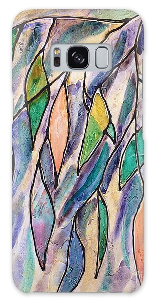 Stained Glass Leaves #2 Galaxy Case
