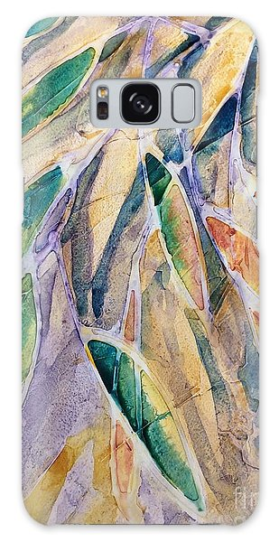 Stained Glass Leaves Galaxy Case