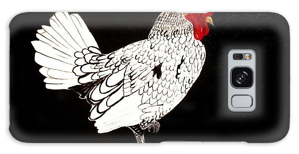 Stained Glass Rooster Galaxy Case by Cindy Micklos