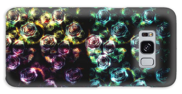 Stained Glass Roses Galaxy Case