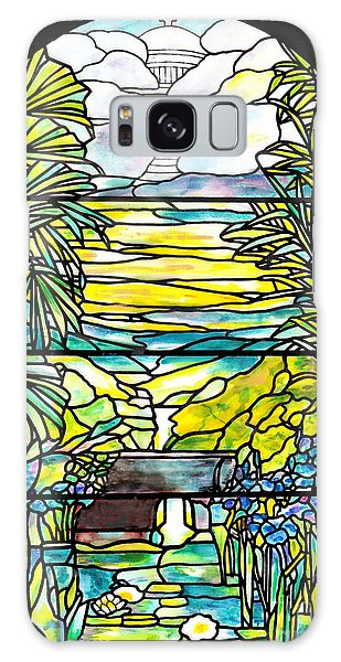 Stained Glass Tiffany Holy City Memorial Window Galaxy Case by Donna Walsh