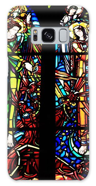 Stained Glass Window At Mont  Le Saint-michel Galaxy Case