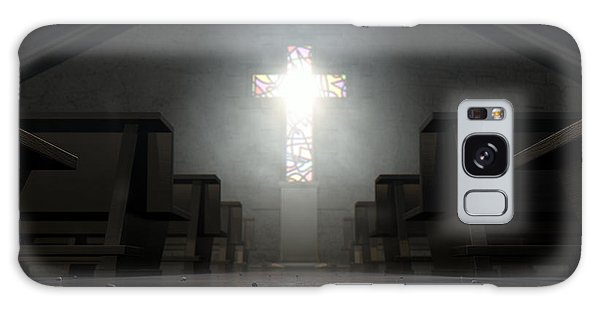 Beam Galaxy Case - Stained Glass Window Crucifix Church by Allan Swart