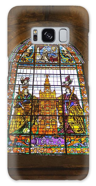 Stained Glass Window In Seville Cathedral Galaxy Case by Tony Murtagh