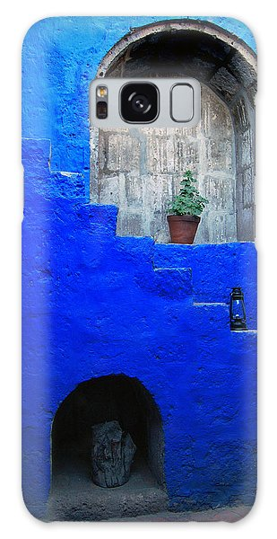 Staircase In Blue Courtyard Galaxy Case by RicardMN Photography
