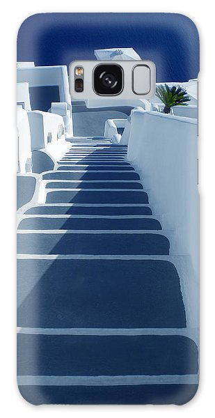 Stairs Down To Ocean Santorini Galaxy Case by Colette V Hera  Guggenheim