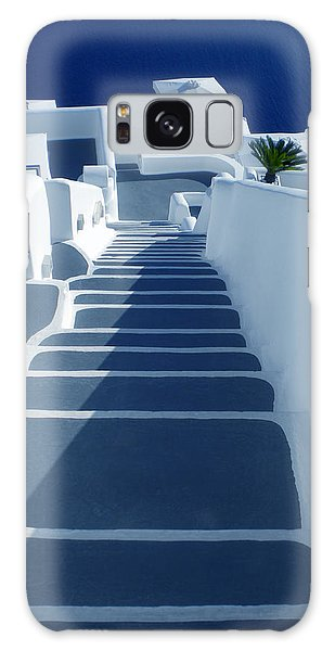 Stairs Down To Ocean Santorini Galaxy Case