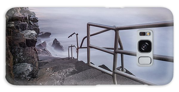 Handrail Galaxy Case - Stairs To Surf Heaven Panorama by Michael Ver Sprill